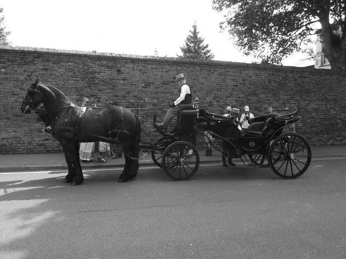 The horse and cart ride