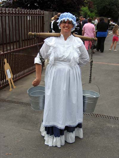 The Victorian milk lady (but don't feel too sorry for her - her buckets were full of Gingerbread Men).