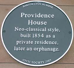 Providence House plaque.
